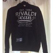 Sweat Rivaldi Coton 12 Ans Noir