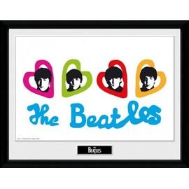 The Beatles Poster De Collection Encadré - Love Hearts (30x40 cm)