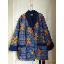 Robe De Chambre Arthur Veste D'int�rieur Coton 48 Bleu