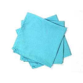 Lot De 3 Serviettes De Table Alix Turquoise