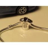 Charm Perle Charms Mod�le: Maillot De Foot Compatible Pandora-Argent 925/1000 -Ch167g4.4
