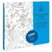 Poster � Colorier 100x70cm Cosmos - Omy
