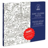 Poster � Colorier 100x70cm France - Omy