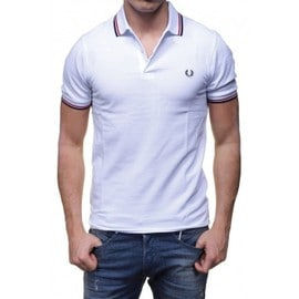 Polo Fred Perry Homme M3600 Blanc 748