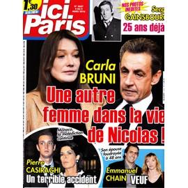 Ici Paris 3687 - Carla Bruni, Pierre Casiraghi, Emmanuel Chain, Serge Gainsbourg,...