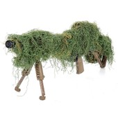 Filet Couvre Fusil Sniper Camouflage Leaf Green - Feuille Verte - Fosco 469275 Replique Airsoft