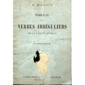 Tableau Des Verbes Irr�guliers De La Langue Attique 1896 de ragon