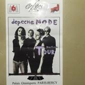 Ticket Concert Depeche Mode Paris 30 Juin 1993