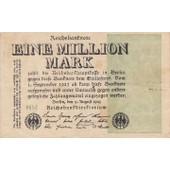 Reichsbanknote Eine Million Mark 09-08-1923