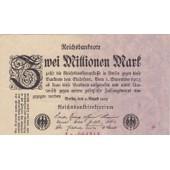 Reichsbanknote Zwei Millionen Mark 09-08-1923