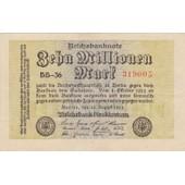 Reichsbanknote Zehn Millionen Mark 22-08-1923