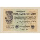 Reichsbanknote Zwanzig Millionen Mark 01-09-1923