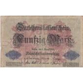 Billet De 50 Marks 05-08-1914