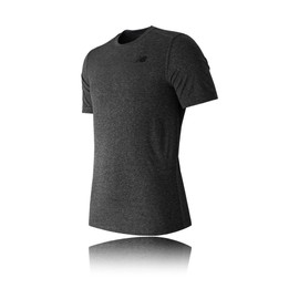 New Balance Heather Tech Hommes Gris Manche Courte Col Rond T Shirt Tee Top