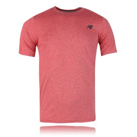 New Balance Heather Tech Hommes Rose �vacuant Manche Courte T Shirt Tee Top
