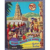 Album D'images Incomplet Chocolat Casino Et Scilia Asie Voyages Autour Du Monde de Jojo et Louisette