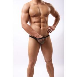 Slip String Filet Transparent M L Xl Homme Viril Thong Man Underwear