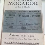 Tiket Entr�e Au Th�atre Mogador
