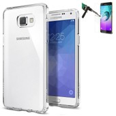 Galaxy A3 Version 2016 Coque Silicone Gel Vitre Verre Tremp� Transparent
