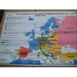 Carte Murale Seconde Guerre Mondiale