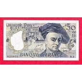 50 Francs Quentin De La Tour 1976 Alphabet R Ttb