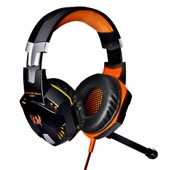 XCSOURCE EACH G2000 Casque Gaming St�r�o USB Plug Led Alimentation Vibration Fonction Jeux Professionnel Ear Force avec Microphone Ecouteurs Basse antibruit pour Ps3 Xb3 PC Mac en Noir-Orange TH093