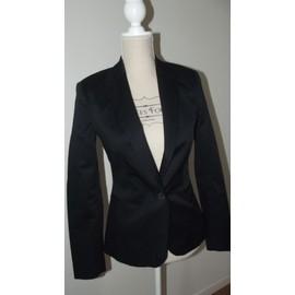 Veste Zara Blazer Coton 34 Noir
