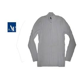 T-Shirt Blanc Polo Mode Col Zippe - Armand Thiery - Homme / Ado Garcon - T. M / L Ou T. 2 / 3