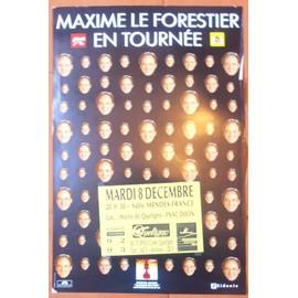 AFFICHE CONCERT FORMAT 60X40 MAXIME LE FORESTIER ETAT CORRECT & TRèS RARE