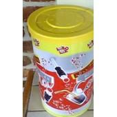Grande Boite Vide En M�tal Avec Couvercle En Plastique - Pour 150 Sucettes Bouteilles Cola - 27cm De Haut - Diam�tre 17cm