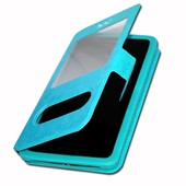 Etui Housse Coque Folio Turquoise Pour Zte Blade Q Mini By Ph26