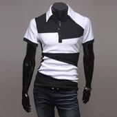 Tops Mode Homme Polo Chemise De Couleur T-Shirt A Manche Courte Causal