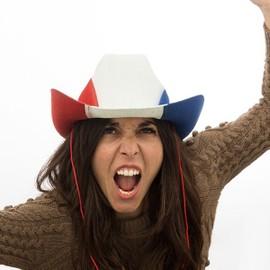 Chapeau De Cowboy Drapeau De La France