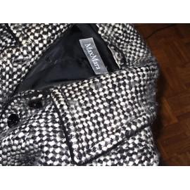 Manteau Max Mara Laine T42 Noir & Blanc