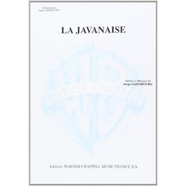 Javanaise, la Piano/Chant [Broché] by Gainsbourg Serge