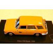 Simca 1300 Break La Poste Ptt 1966 1/43 Jaune Universal Hobbies Editions Atlas