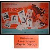 Dubout * Clochemerle * Pierre Chenal - Film 1948 - Livret De Cin�ma - Original Press Book - Dessin De Dubout - 4 Pages 24x31 Cm * Saturnin Fabre ; Mady Berry ; Armontel * Dossier De Presse
