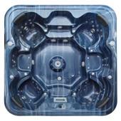 Spa Vanish - 6 Places - Acrylique Bleu Marbr� - Habillage Gris