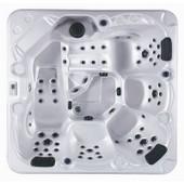 Spa Thalassa - 5 Places - Acrylique Blanc Perl� - Habillage Marron