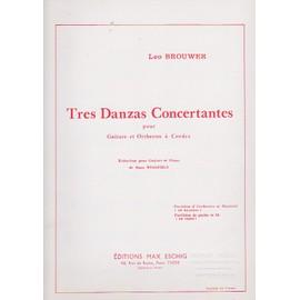 Tres Danzas concertantes – guitare et piano - 3 Danses concertantes réd. guitare piano