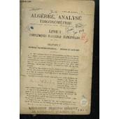 Algebre, Analyse Trigonometrie de PAPELIER G.