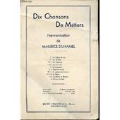 Dix Chansons De Metiers - Fascicule 2 : Les Tailleurs (Chanson Populaire Breton) / Harmonisation De Maurice Duhamel. de COLLECTIF