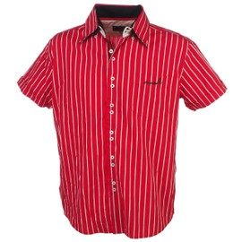 Chemise Manches Courtes Culture Sud Capiche Rouge Raye Rouge 35981