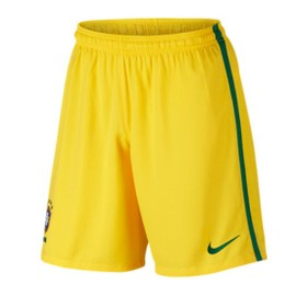 2016-2017 Brazil Nike Home Shorts (Yellow)