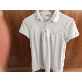 T-Shirt Esprit Raye Bleu Clair Et Blanccoton 40 Bleu