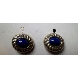 Boucles D'oreilles En Argent Et Lapis-Lazuli