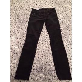 Pantalon Gap Always Skinny Velours 36 Noir