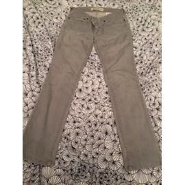 Jean Gap Straight Leg Jean 36 Gris