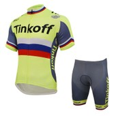 Tinkoff 2016 Nouvelle Arriv�e Maillot �t� Manches Courtes Vtt Ropa Ciclismo Hot Vente Hommes Pro Team Saxo Bank V�tements De Cyclisme