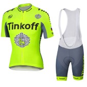 Tinkoff 2016 Ropa Ciclismo Maillot Cyclisme Sport De Plein Air Bicicletas Abbigliamento Ciclismo 2016 Usine Vente Directe Fluo Jaune